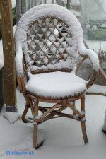 sne på stol