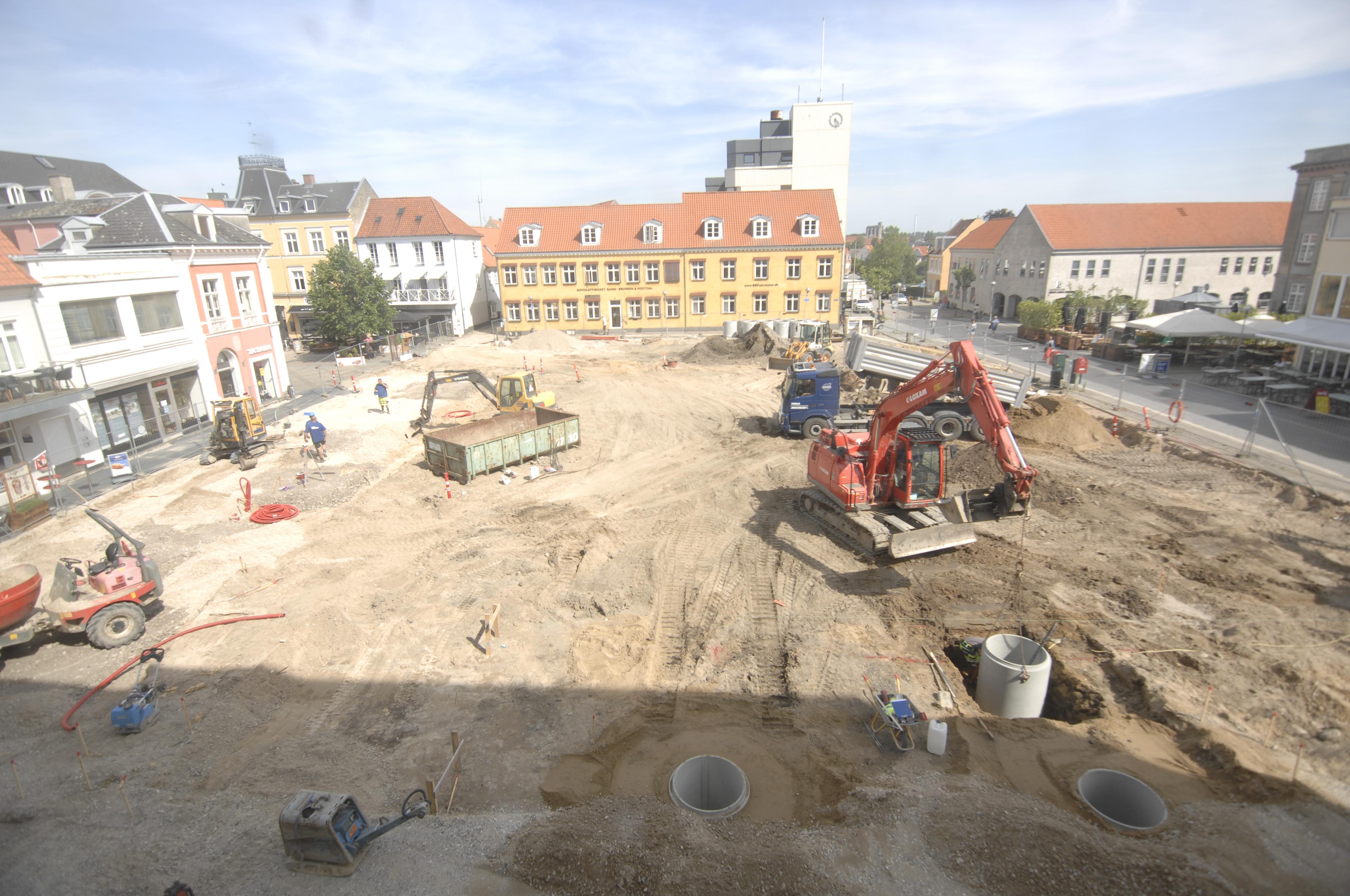 Ombygning af Nyk F torv 2019 by JP Madsen